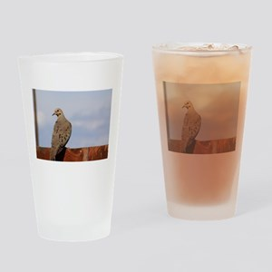 Morning Dove Drinking Glass