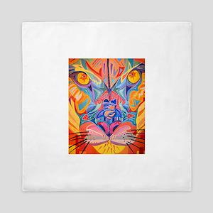 abstract cougar Queen Duvet