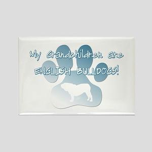English Bulldog Grandchildren Rectangle Magnet