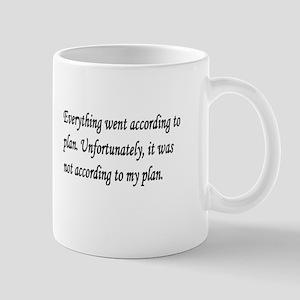 according to plan Mugs