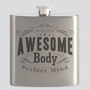 Personalized Birthday Awesome Body Flask