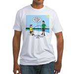 Summer Ice Fishing Fitted T-Shirt