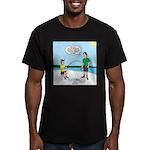 Summer Ice Fishing Men's Fitted T-Shirt (dark)