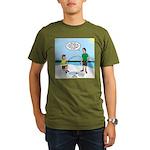 Summer Ice Fishing Organic Men's T-Shirt (dark)