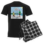 Summer Ice Fishing Men's Dark Pajamas