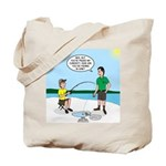 Summer Ice Fishing Tote Bag