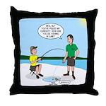 Summer Ice Fishing Throw Pillow