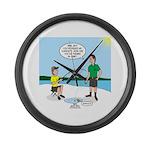 Summer Ice Fishing Large Wall Clock