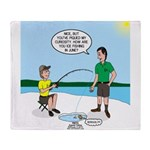 Summer Ice Fishing Throw Blanket