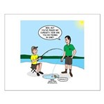 Summer Ice Fishing Small Poster