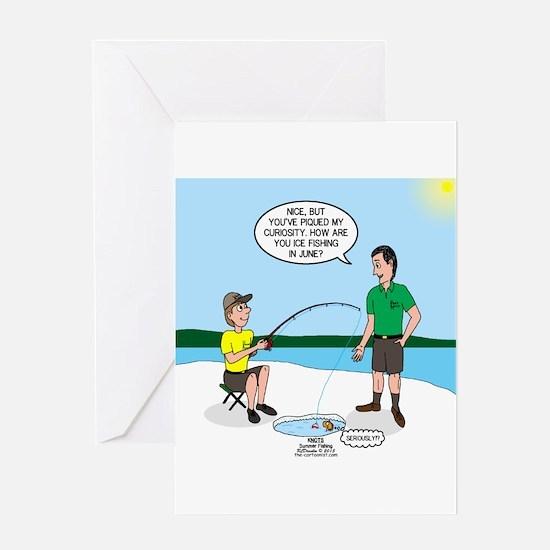Summer Ice Fishing Greeting Card