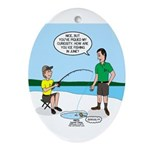 Summer Ice Fishing Ornament (Oval)
