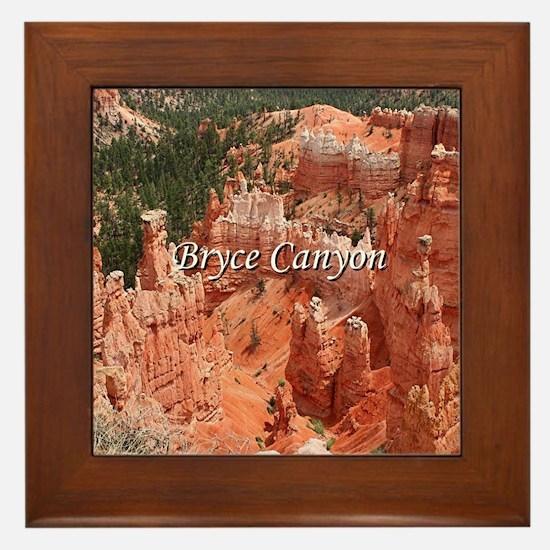 Bryce Canyon, Utah, USA 16 (caption) Framed Tile