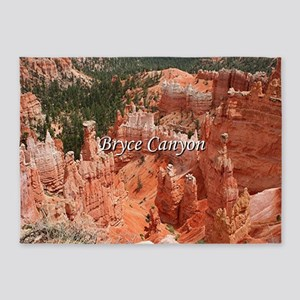 Bryce Canyon, Utah, USA 16 (caption 5'x7'Area Rug