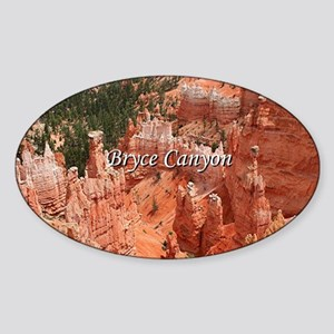 Bryce Canyon, Utah, USA 16 (caption Sticker (Oval)