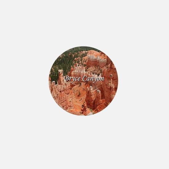 Bryce Canyon, Utah, USA 16 (caption) Mini Button