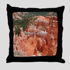 Bryce Canyon, Utah, USA 16 (caption) Throw Pillow