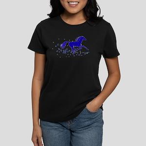 Blue Stars Pony Women's Dark T-Shirt