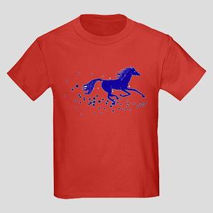 Blue Stars Pony Kids Dark T-Shirt