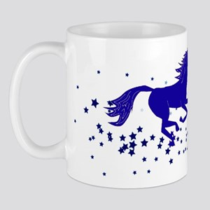 Blue Stars Pony Mug