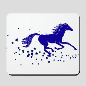 Blue Stars Pony Mousepad