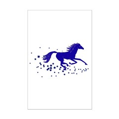 Blue Stars Pony Posters