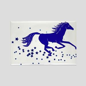 Blue Stars Pony Rectangle Magnet