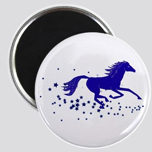 Blue Stars Pony Magnet