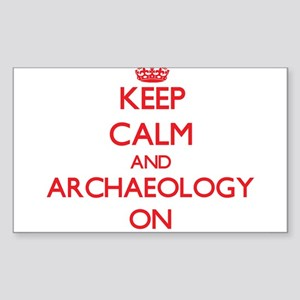 Keep Calm and Archaeology ON Sticker