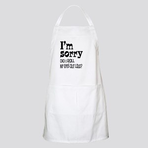 Roll My Eyes Apron