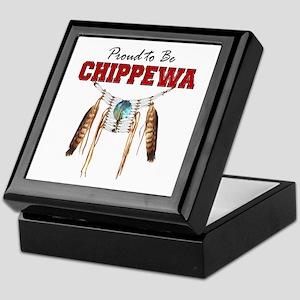 Proud To Be Chippewa Keepsake Box