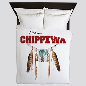 Proud To Be Chippewa Queen Duvet
