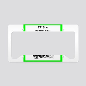 mistress joke License Plate Holder