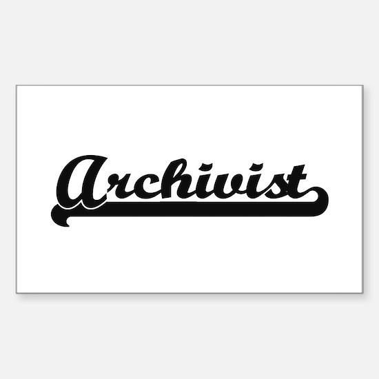 Archivist Artistic Job Design Decal