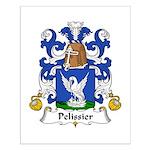 Pelissier Family Crest Small Poster