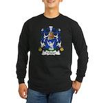 Pelissier Family Crest Long Sleeve Dark T-Shirt