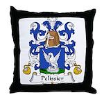 Pelissier Family Crest Throw Pillow