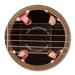 Lst In Guitar Hole Round Car Magnet