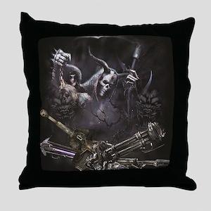 Grim Reaper  Throw Pillow