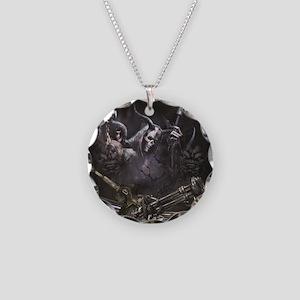 Grim Reaper  Necklace Circle Charm