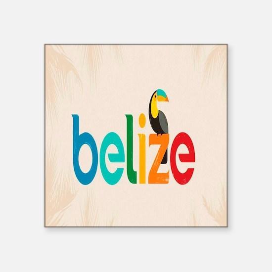 """Belize Square Sticker 3"""" x 3"""""""
