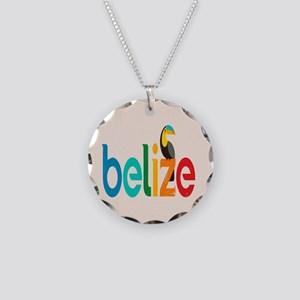 Belize Necklace Circle Charm
