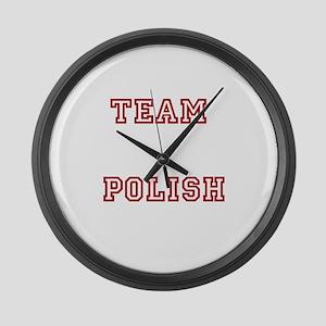 Team Polish Large Wall Clock
