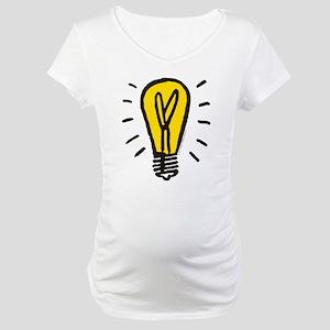 Monopoly Light Bulb Maternity T-Shirt