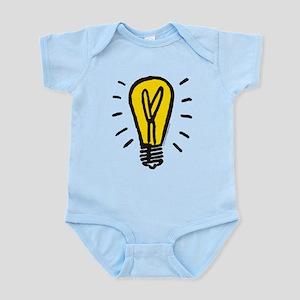 Monopoly Light Bulb Baby Light Bodysuit