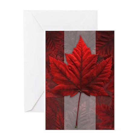 Canada Souvenir Greeting Card Maple Leaf art Card