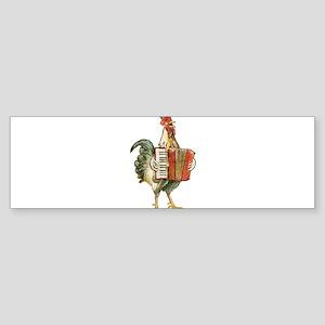 Accordian Playing Chicken Bumper Sticker
