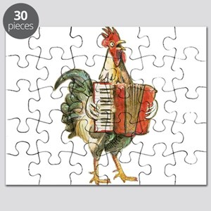 Accordian Playing Chicken Puzzle