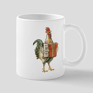 Accordian Playing Chicken Mugs