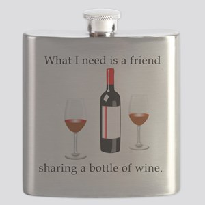 Wine and Friends Flask